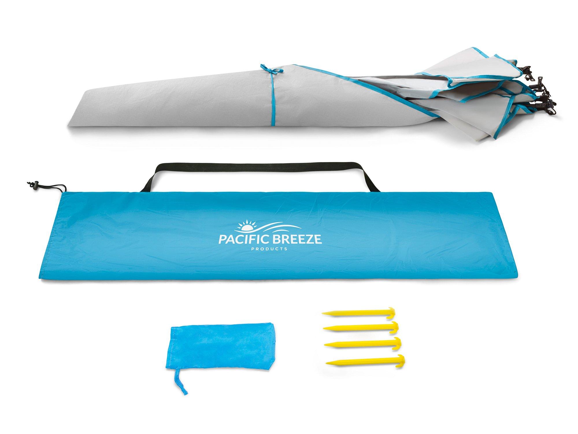 Pacific Breeze Easy Setup Beach Tent Deluxe Xl Bsa Soar