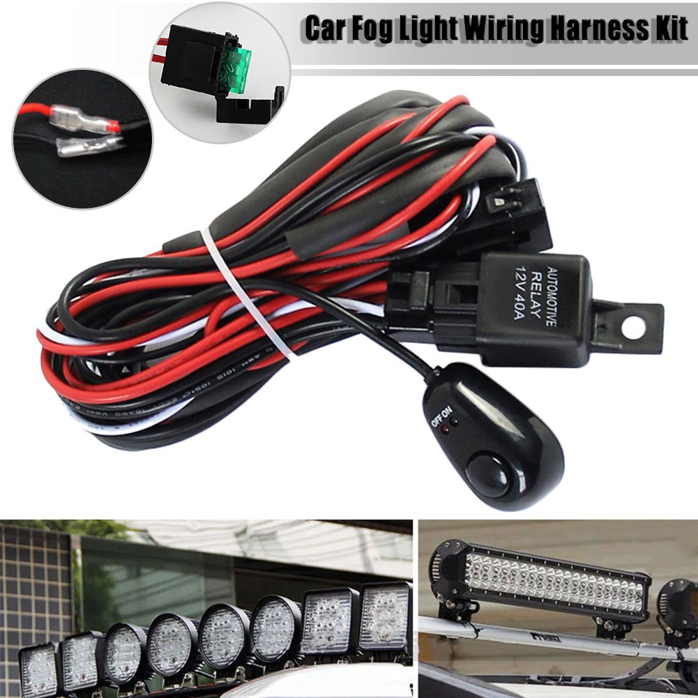 Lembeauty Universal Car Fog Light Wiring Harness Kit Loom For LED Work  Driving Light Bar With Fuse And Relay Switch 12V 40A: Amazon.co.uk: Car &  Motorbike