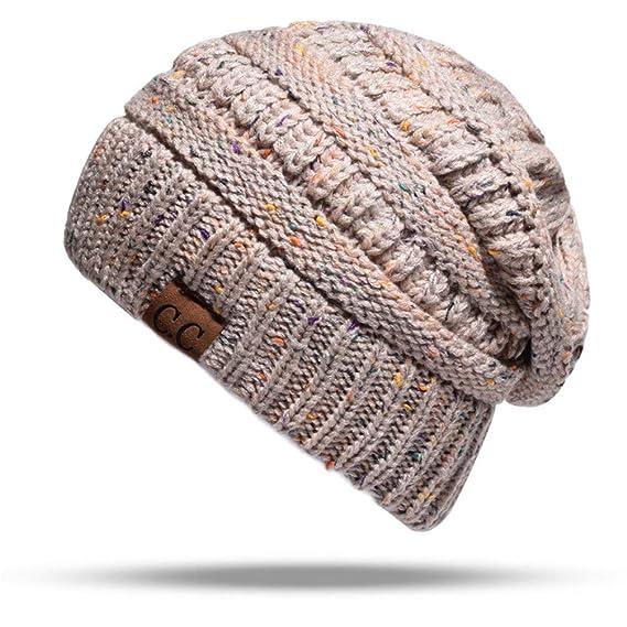 RF-Guantes bufanda sombrero Gorros de Punto para Mujer La Cola de Caballo  Knitted Cap 79ed446a90d