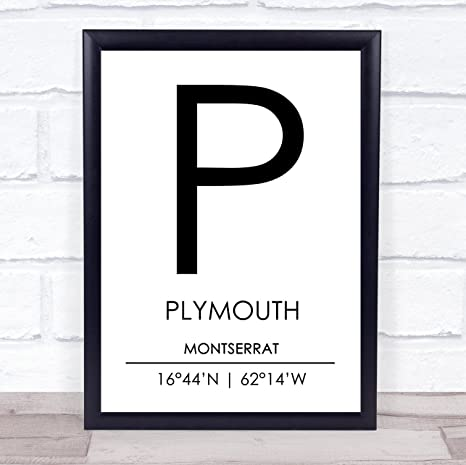 Amazon com: Plymouth Montserrat Coordinates World City