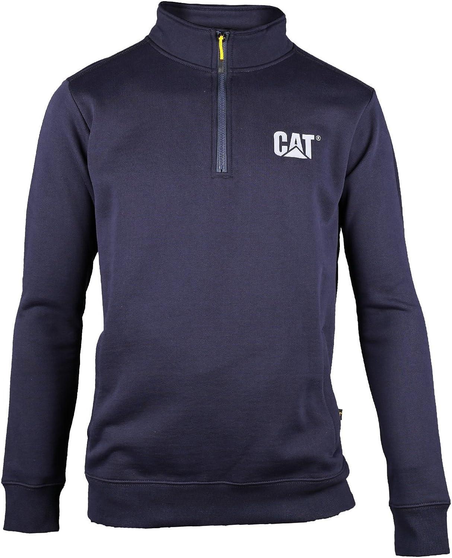Caterpillar Mens Canyon Quarter Zip Sweatshirt