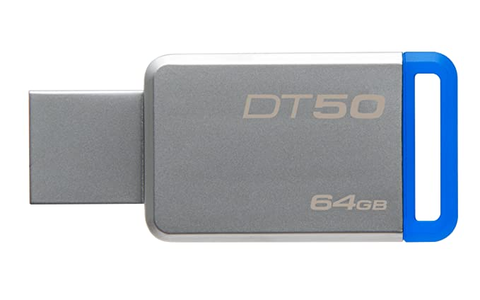 Kingston DataTraveler 50 64GB USB 3.0 Metal Body Pendrive (Read Speed upto 110mb/s) (DT50/64GBFR) (64GB) Pen Drives at amazon