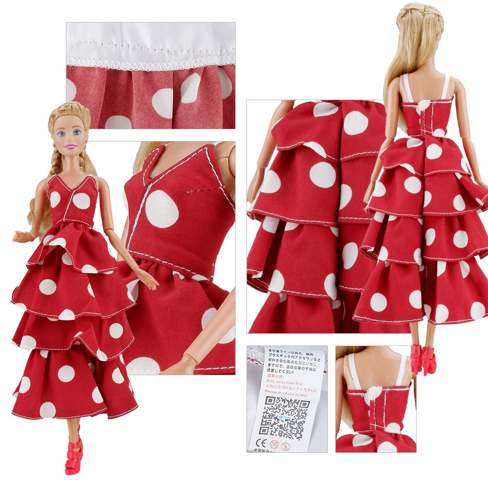 E-TING 3 Sets Doll Clothes Chiffon Skirt Jumpsuits Office Style Wears Dress for 11.5 Inches Girl Dolls