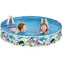 Jilong Planschbecken Happy Sea Pool ø120 x 25 cm Kinderpool Schwimmbecken mit festen Wänden