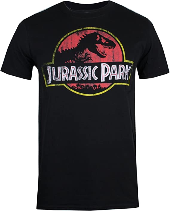 Jurassic Park Logo T-Shirt Manches Courtes Noir