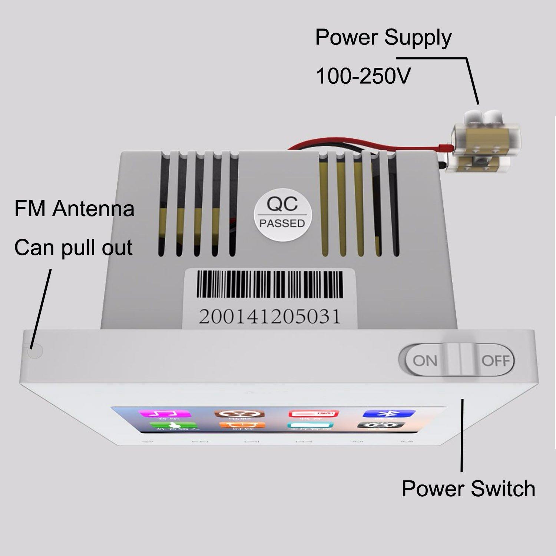 Amazon.com: HELMER Bluetooth Amplifier, Home Stereo Audio System, 3 ...