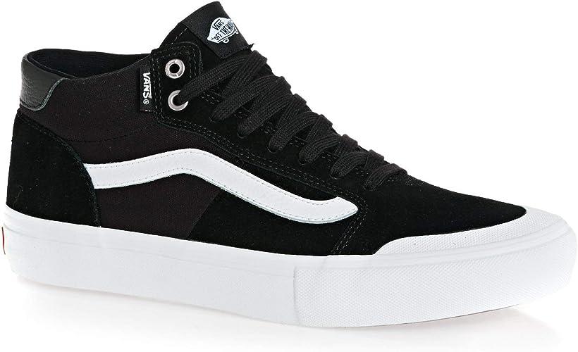 Vans Style 112 Mid Pro Shoes 46 EU Black White: