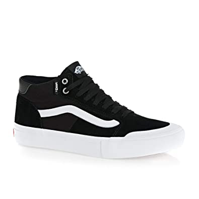 Vans  quot Style 112 Mid Pro Sneakers (Black White) Men s Canvas Suede 019cece45