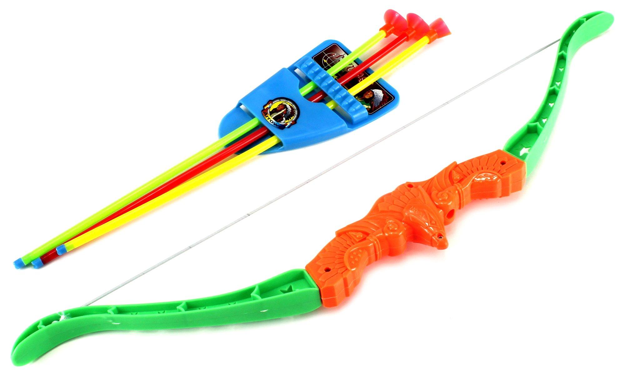 Arrow Eagle Archery Children's Kid's Toy Bow and Arrow Dart Playset w/ Suction Dart Arrows