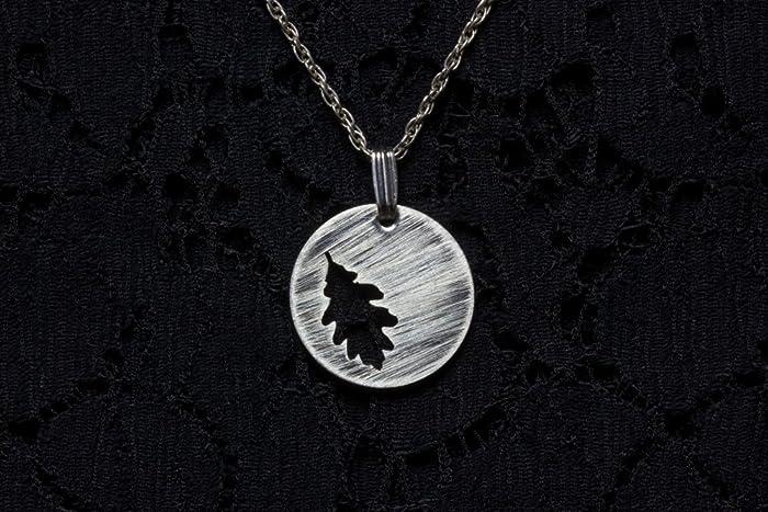 Amazon sterling silver oak leaf pendant handmade sterling silver oak leaf pendant aloadofball Choice Image
