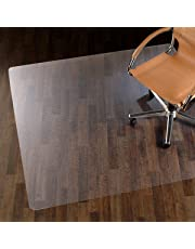 etm Chair Mat for Hard Floors - 100% Pure Polycarbonate, No-Recycling Material - Transparent, High Impact Strength