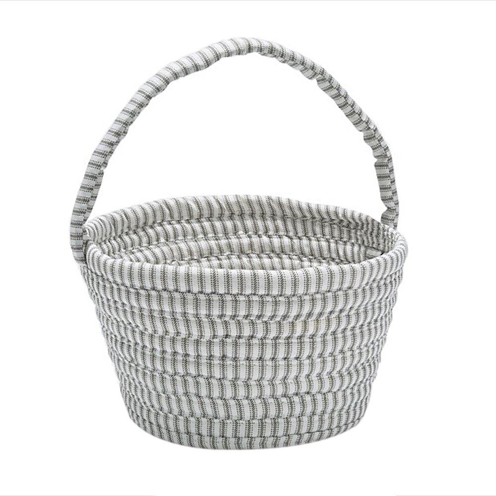 Colonial Mills Easter Home Decorative Ticking Basket Gray - 8x12x7, NEW
