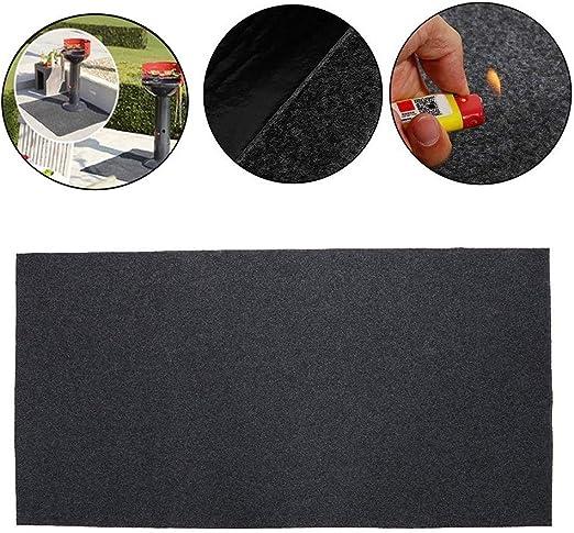 Fireproof Heat Resistant BBQ Gas Grill Splatter Mat Mat Backyard Floor Protective Rug BBQ Floor Protective Rug