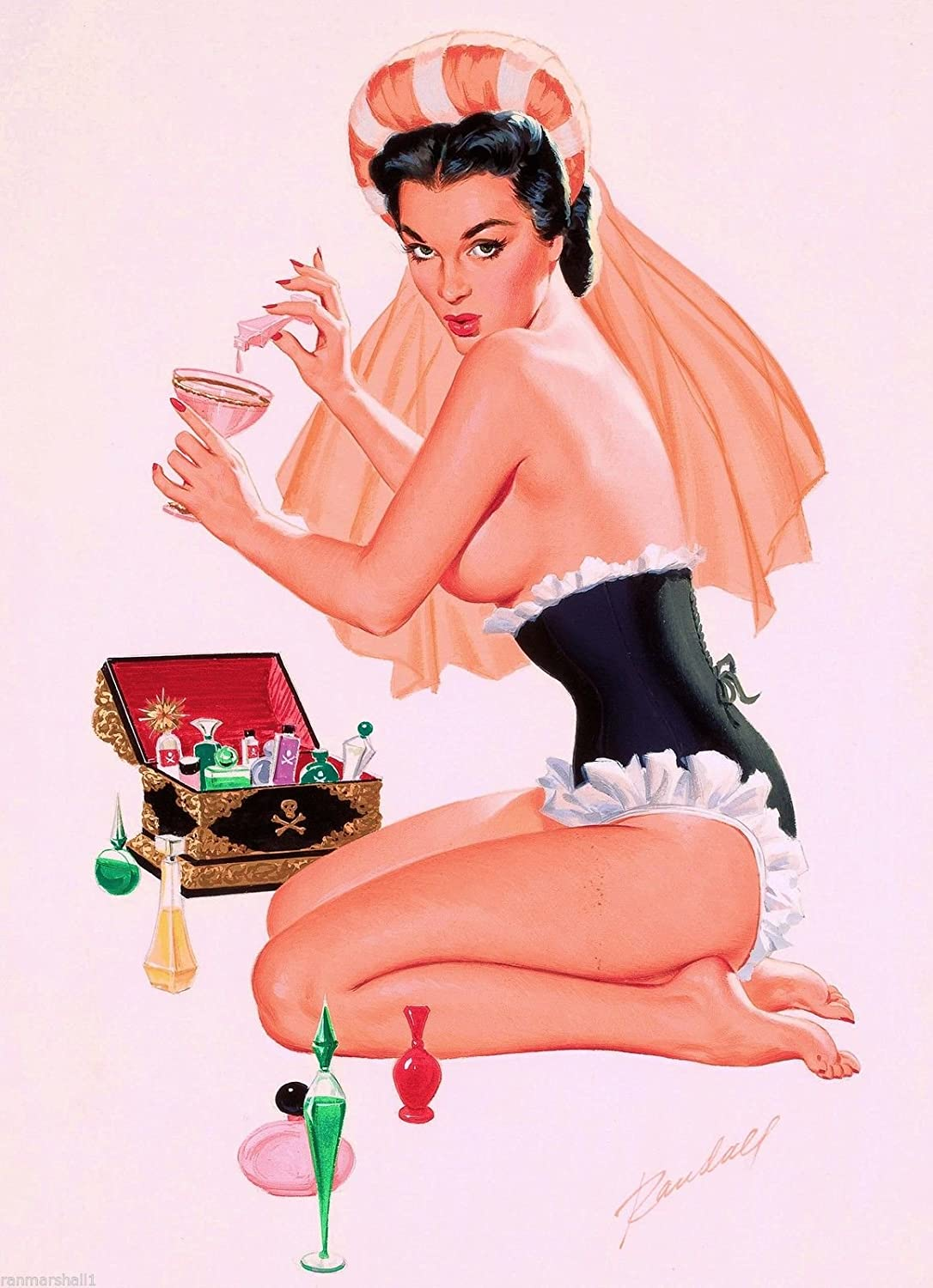 Amazon com: A SLICE IN TIME 1940s Pin-Up Girl Poison Picture