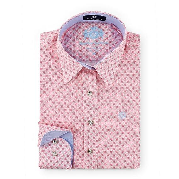 De Marta Camisa Corte Rosas Flores Para Santa Entallado Sm Estampada SwYnq