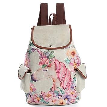 Amazon.com: forshuyu mochila mochila escolar para niñas ...