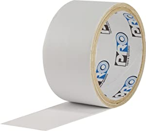 """ProTapes Pro Flex Flexible Butyl All Weather Patch and Shield Repair Tape, 50' Length x 6"""" Width, White (Pack of 1)"""