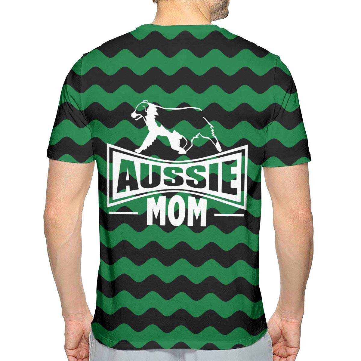 Aussie Mom Australian Shepherd Dog Mens Sport Short Sleeve T-Shirt