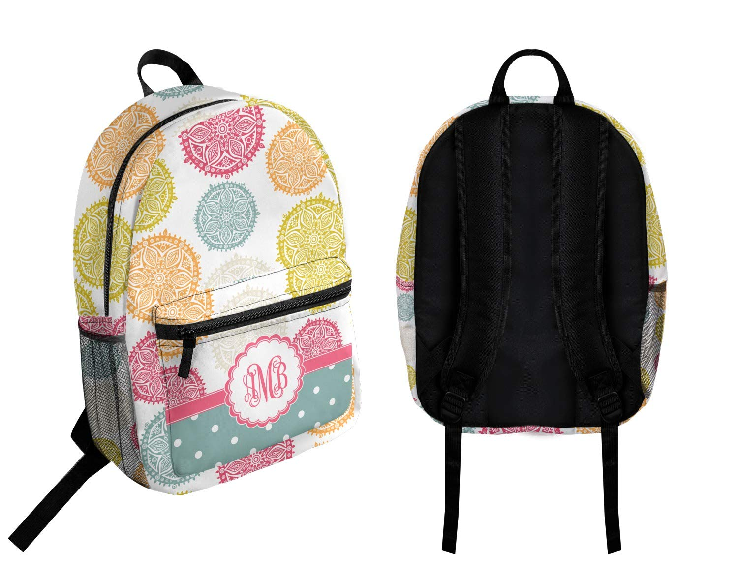 Personalized Doily Pattern Student Backpack