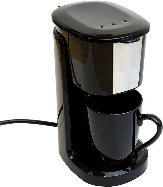 Cafetera eléctrica con taza de cerámica (24 V/250 W Viaje Cafetera Eléctrica Camión, Barco o Camper Encendedor de cigarrillos filtro cafetera eléctrica: Amazon.es: Hogar
