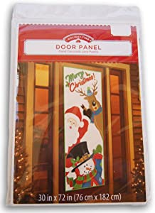 Christmas Decorative Door Panel Cover - 30 x 72 Inches (Merry Christmas)