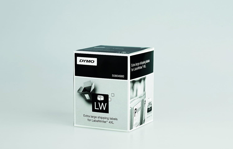 Dymo LabelWriter 4XL, etiquetas de envío extragrandes, 104 x 159 mm (rollo de 220), impresión negra sobre fondo blanco, S0904980: Dymo: Amazon.es: Oficina y ...