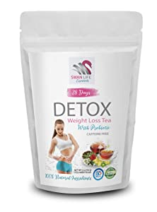 probiotic tea bags – caffeine free – weight loss tea for women - fat burner - 28 DAY DETOX WITH PROBIOTIC CAFFEINE FREE herbal tea - by SWAN LIFE ESSENTIALS