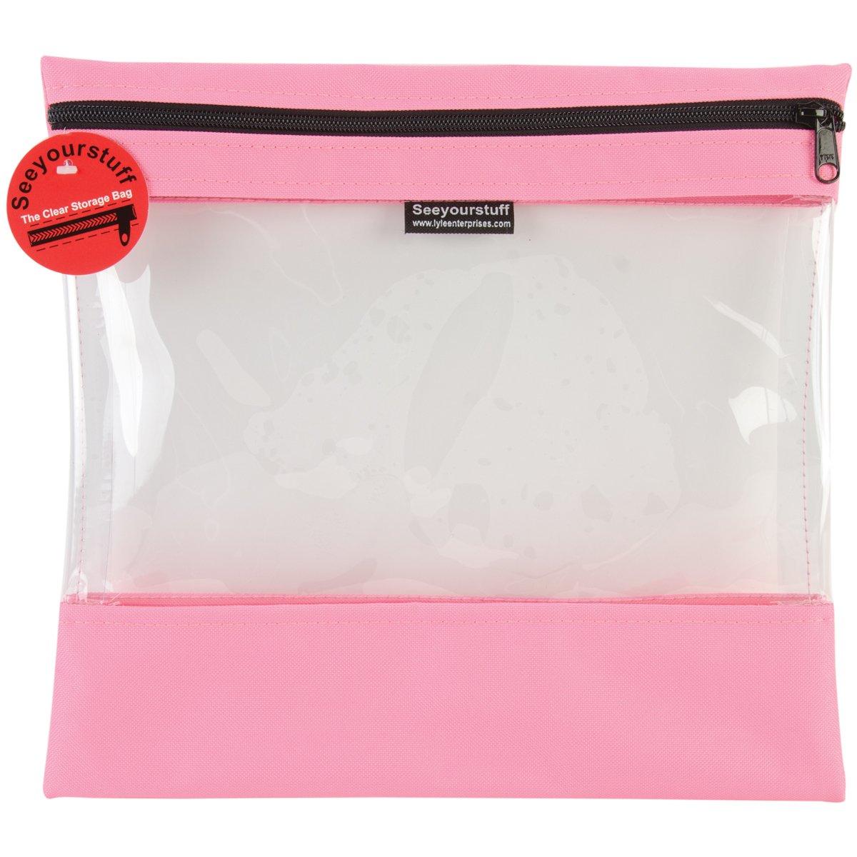 todos los bienes son especiales Lyle sysb3-rosado Ver Ver Ver su Stuff Transparente Bolsa de Almacenamiento, 12 por 13 Pulgadas, Color Rosa  excelentes precios
