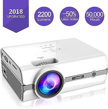 Mini Proyector, LESHP 2200 Lumen Multimedia Vídeo Proyector LCD ...