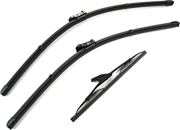 Front /& Rear Wiper Blades For Range Rover Evoque 2011 /& Later