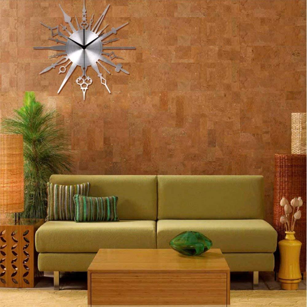YISHU001 Moderne minimalistische kreative Licht - 14-Zoll-Moderne minimalistische Mode stillen Quarz Wanduhr