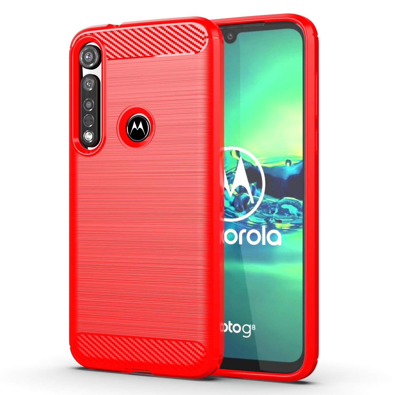 Funda Resistente Para Motorola G8 Plus, Rojo