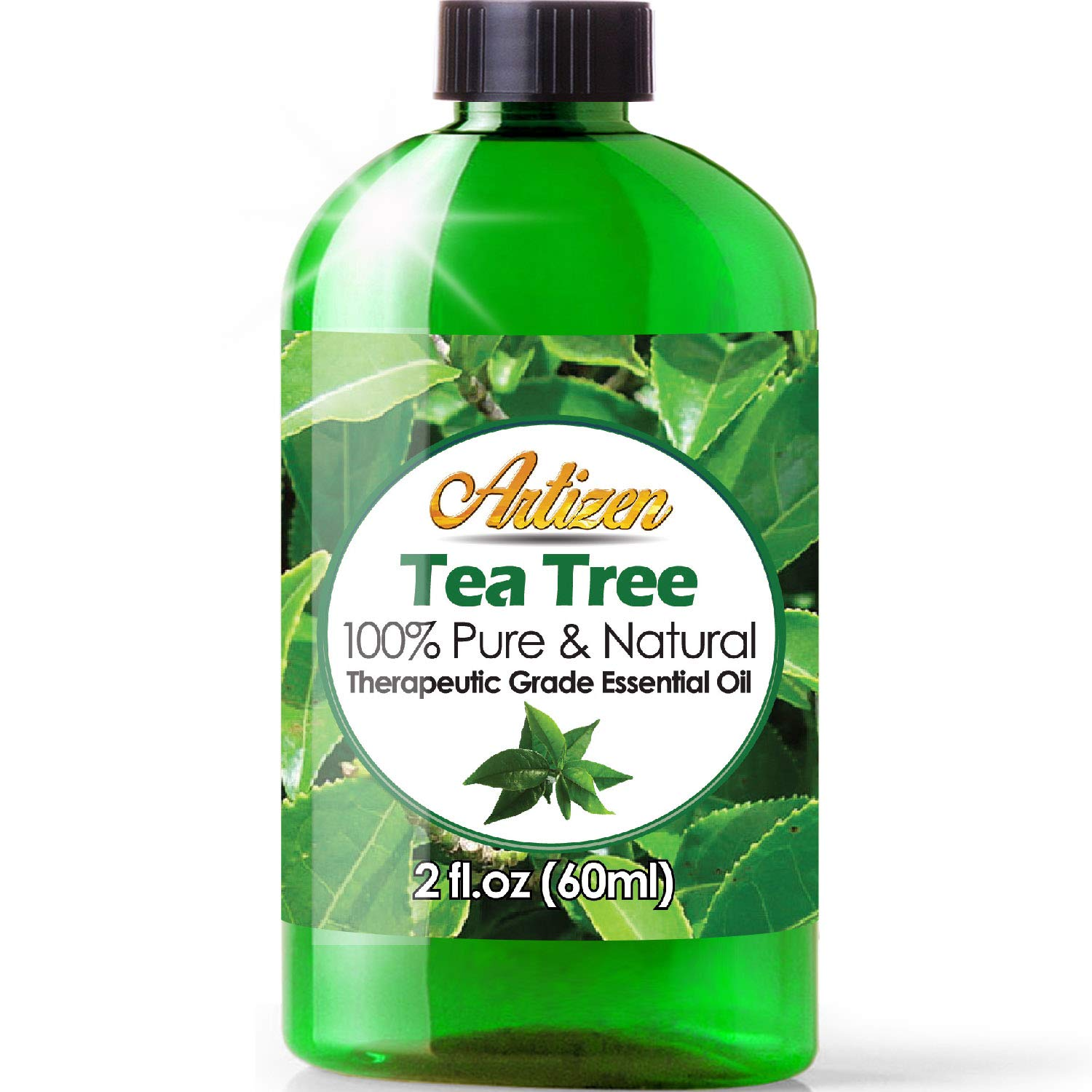 2oz - Artizen Tea Tree Essential Oil (100% Pure & Natural - UNDILUTED) Therapeutic Grade - Huge 2 Ounce Bottle - Perfect for Aromatherapy by Artizen