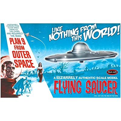 Polar Lights POL970/12 1/48 Plan 9 from Outer Space Flying Saucer Model Kit: Toys & Games