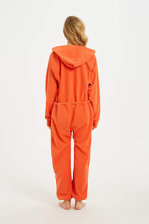 XMASCOMING Womens /& Mens Hooded Fleece Onesie One-Piece Pajamas