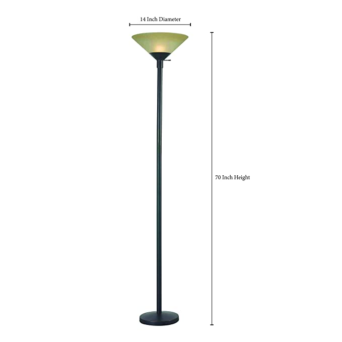 Amazon.com: kenroy Home Wendell Torchiere 32110orb, 32110ORB ...