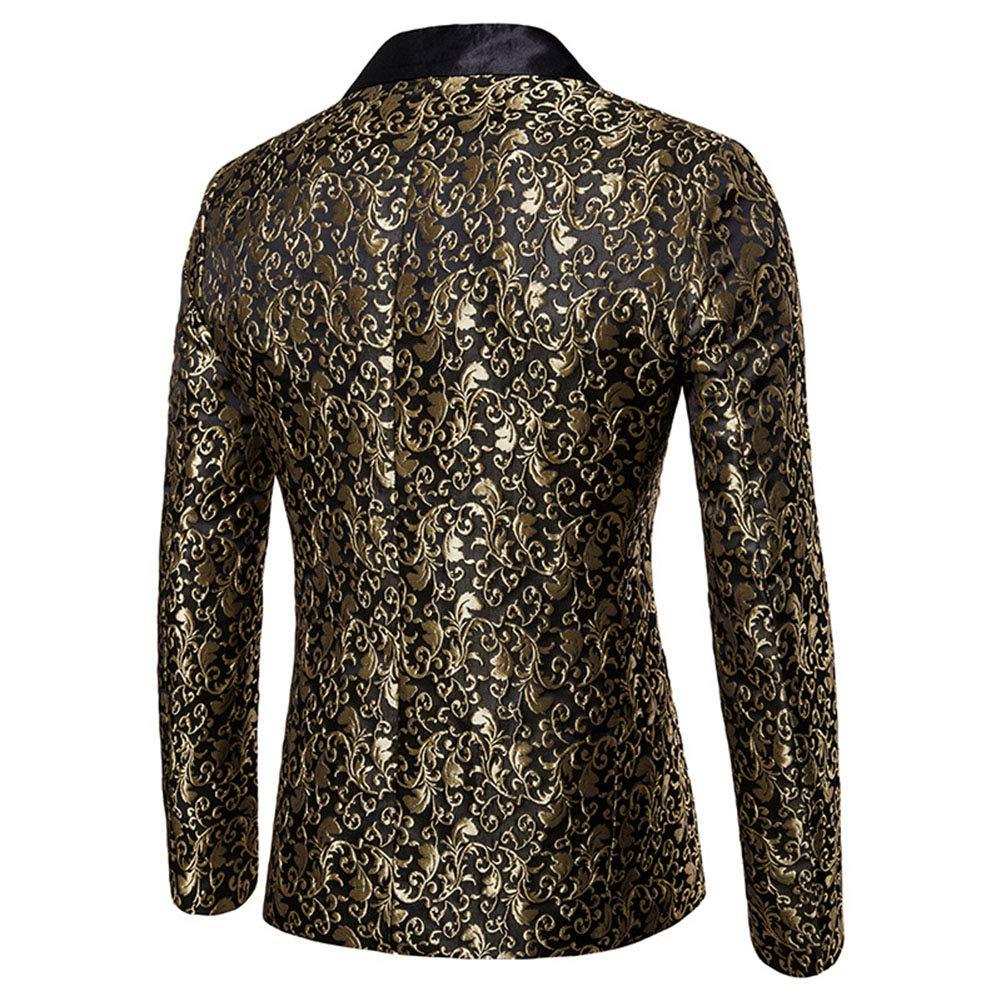 Mens Party Dress Casual Vintage Paisley Blazer Urbane Smart Coat Suit Jacket