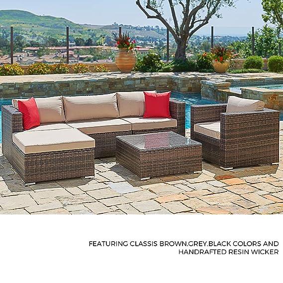 Amazon.com: Suncrown sofá y silla seccional para ...