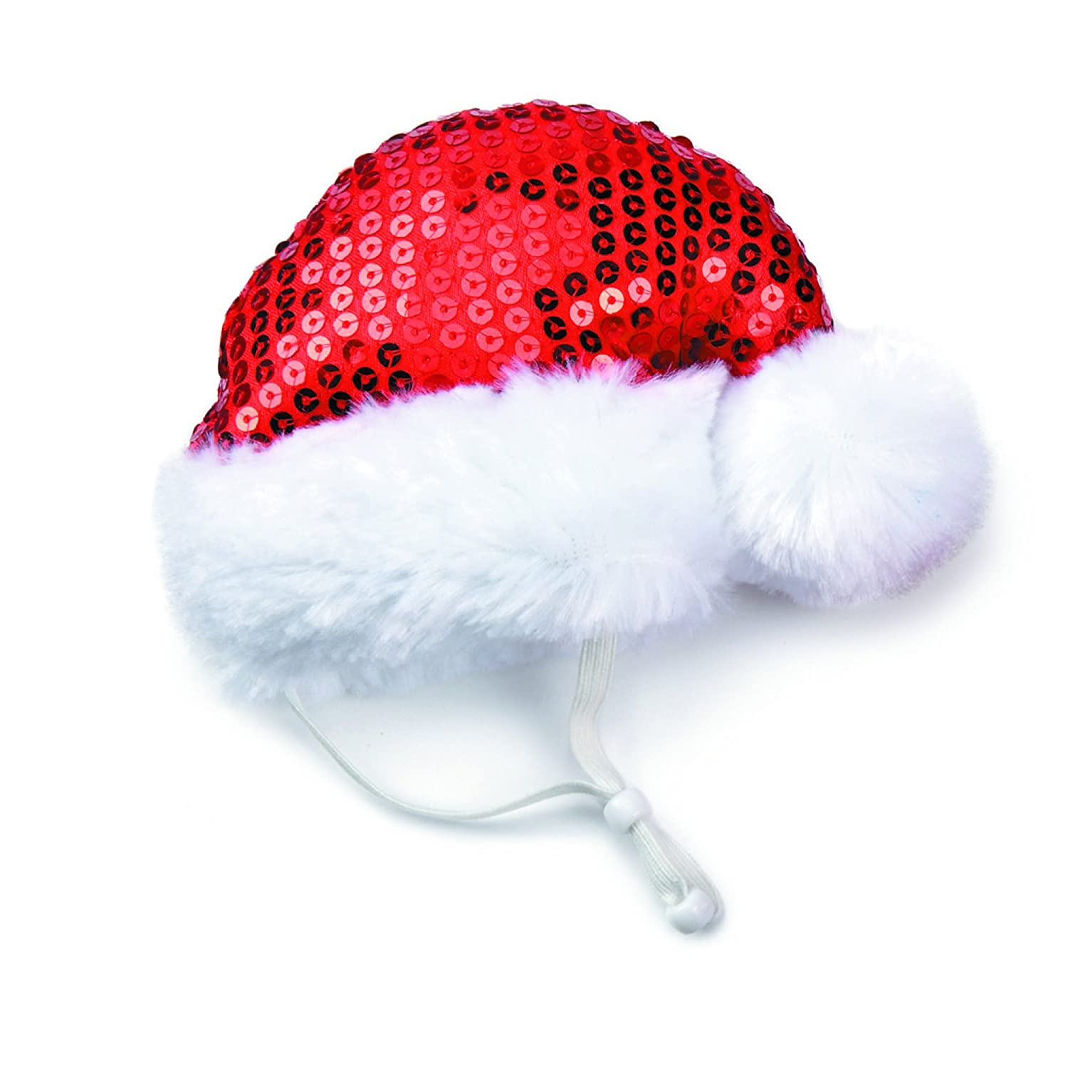 Amazon Aria Sequin Santa Hats For Dogs Small Pet Hats Pet