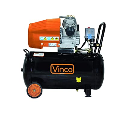 60606 Compresor con ruedas 50 LT Vinco doble manómetro 8bar monofase 330 l/m