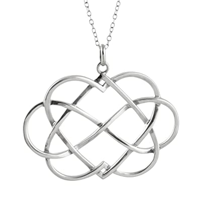 Amazon fashionjunkie4life sterling silver infinity sign wtwo fashionjunkie4life sterling silver infinity sign wtwo hearts pendant necklace 18quot aloadofball Image collections