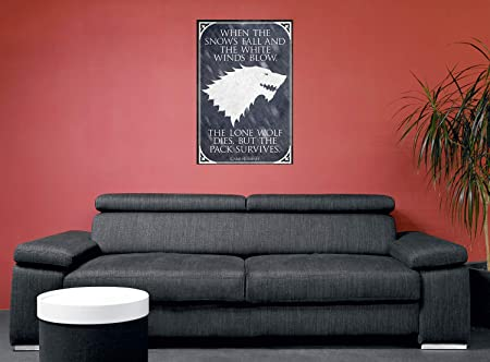 Póster Games of Thrones - The Lone Wolf (61cm x 91,5cm): Amazon.es ...