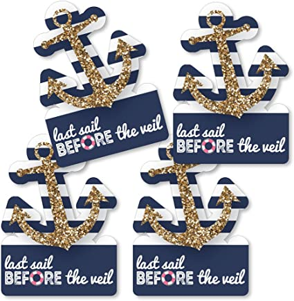 Nautical Party Balloons Bachelorette Party Decorations Nautical Bachelorette Decorations Bachelorette Party Supplies Anchor Last Sail Before the Veil Balloons Nautical Set of 3 Navy Blue