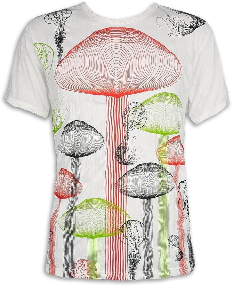 Pure Clothing Camiseta Hombre Setas Psicodélicas Hongos: Amazon.es: Ropa y accesorios