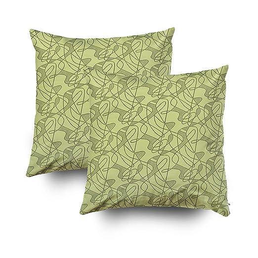 Capsceoll - 2 fundas de almohada decorativas para sofá ...