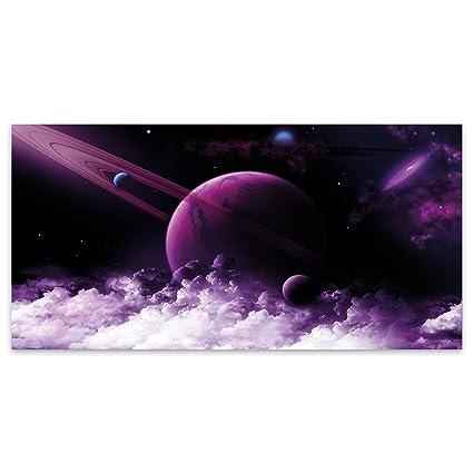 a8854b448 Morado Saturn planta Anillo Moderno Acrílico decorativo de cristal,  acrílico, Morado, Large (