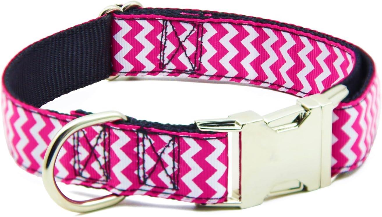BIG SMILE PAW Nylon Dog Collar Adjustable,Heavy Duty Dog Collar with Metal Buckle