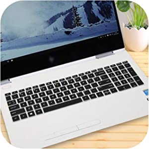 15 15.6 Inch Laptop Keyboard Cover Protector for Hp Envy X360 Bp Bq Ch Cn Cs Series with AMD Ryzen 5 2500U 2700U 15-Bq101Na-Black-
