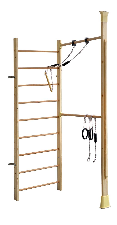 Sprossenwand Holz - Klettergerüst Indoor Holz - KletterDschungel Holz