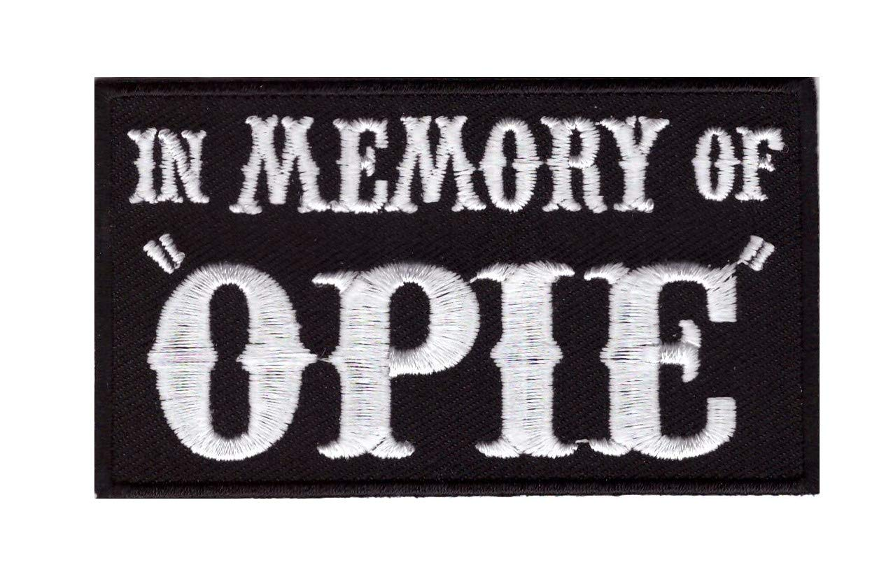 In Memory of Opie Embroidered Biker Patch Iron On In Erinnerung An Opie Motorrad Aufn/äher Aufb/ügler Titan One Europe